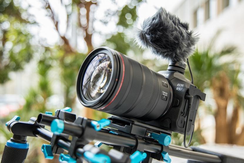 The Canon EOS R5.